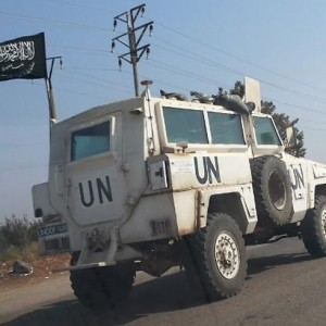 ISIS flag on UN jeep